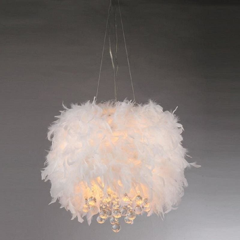 Warehouse of Tiffany RL1221 Iglesias White Feathers Pendant Light