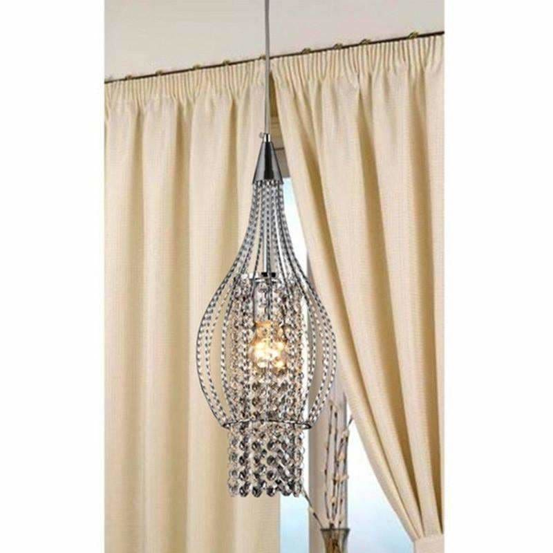 "Xyza 1-light Crystal 7.5"" Chrome Crystal Chandelier RL8048/1"