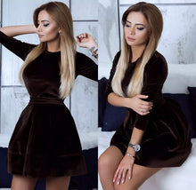 Velvet Mini Party Dress