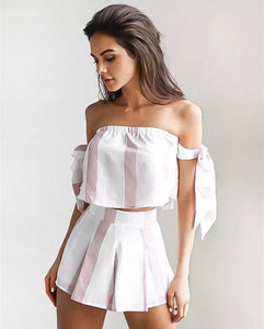 Striped Two Piece Set