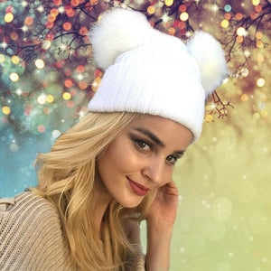 Pompom Knitted Hat