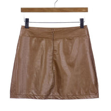 Leather Look High Waisted Mini Skirt