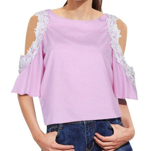 Cold Shoulder Lacey Top