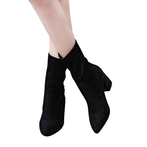 HEE GRAND Suede Ankle Boots