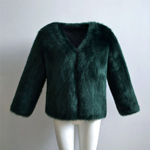 Faux Fur Fluffy Coat