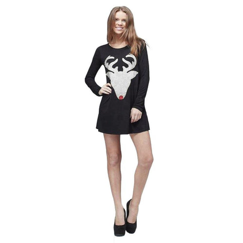 Reindeer Christmas Jumper Dress