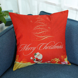 Merry Christmas Pillowcase Sofa Cushion Cover