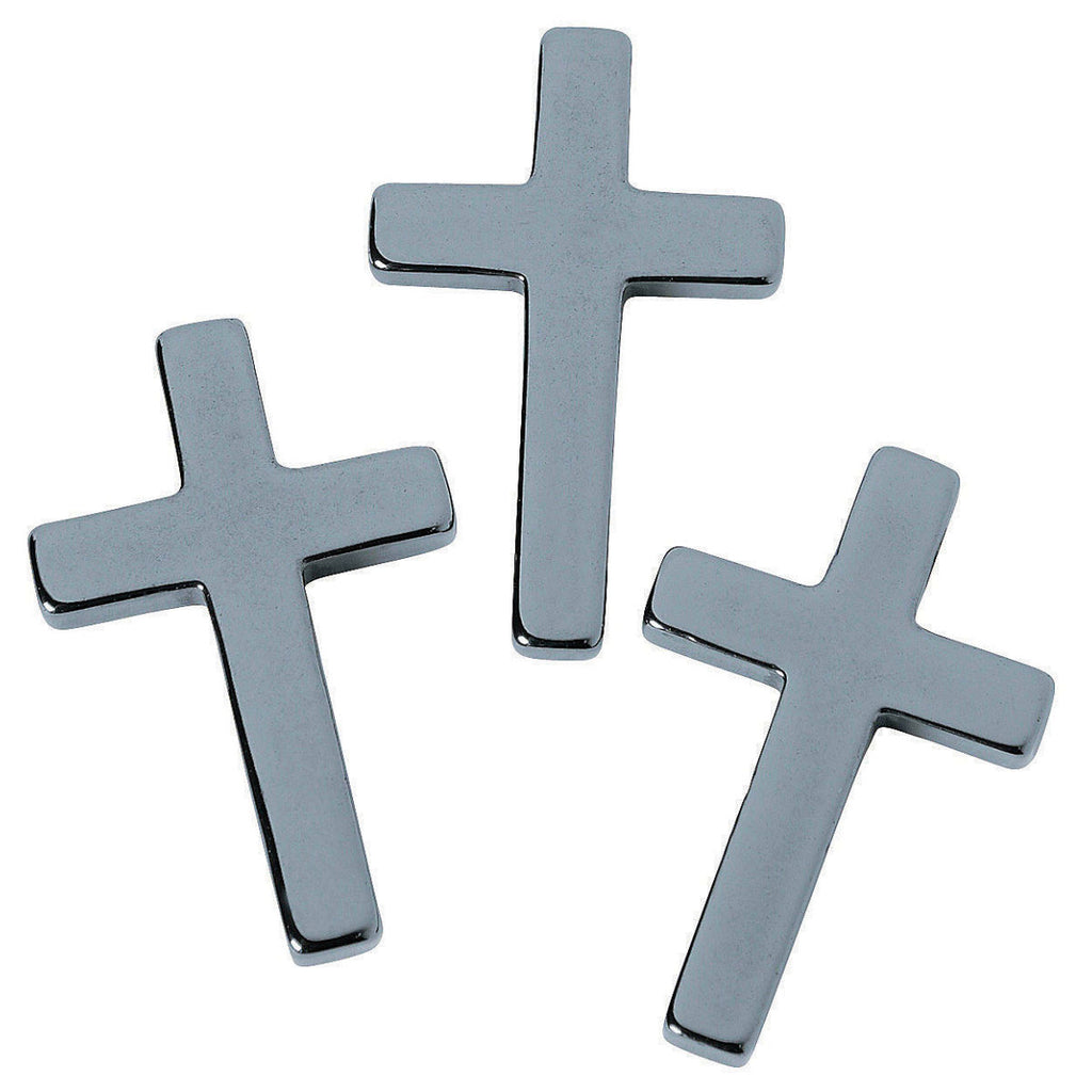 15 pack of hematite stone cross pendant charms heavens charms 15 pack of hematite stone cross pendant charms aloadofball Image collections