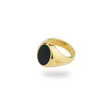 GOLD JAMESTOWN GREEN BLOODSTONE OVAL STONE RING