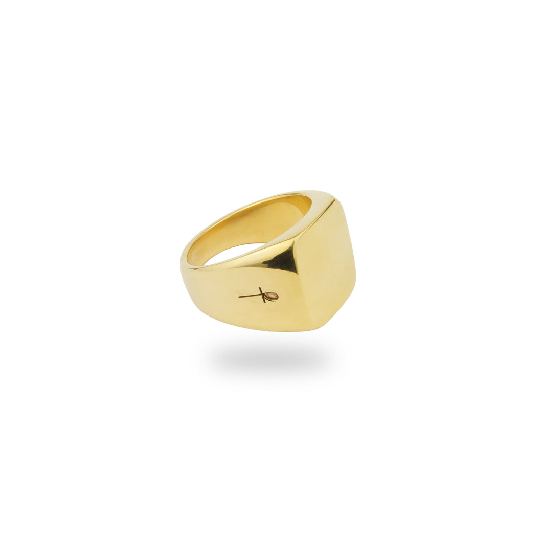 GOLD BELMONT RING