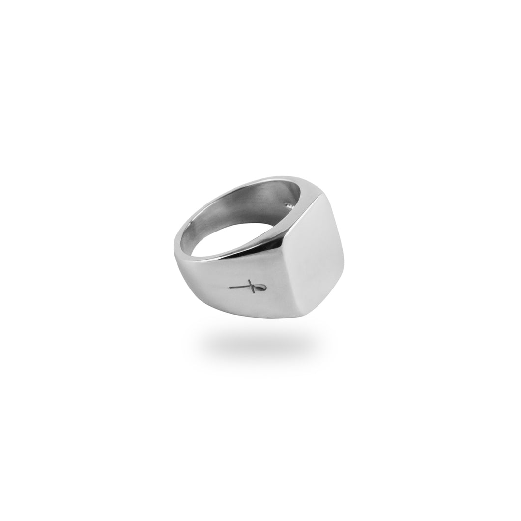SILVER BELMONT RING