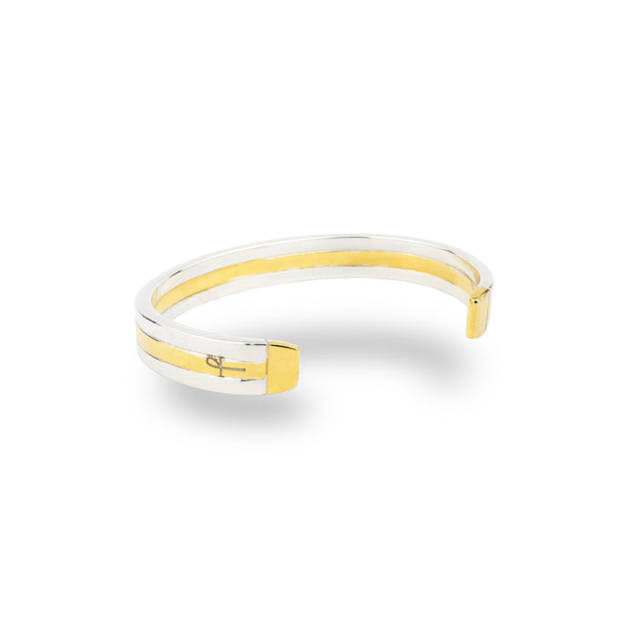 SILVER & GOLD HOLLOWAY BANGLE