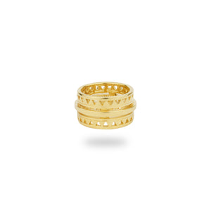 GOLD ELECTRIC RING