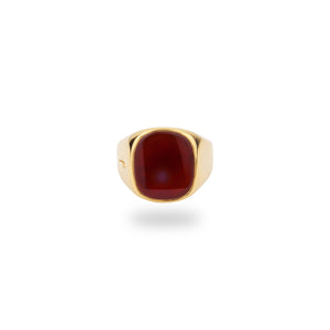 9K GOLD JAMESTOWN CARNELIAN SQUARE STONE RING