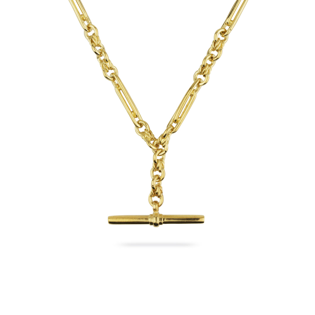 GOLD DE BEAUVOIR TWO NECKLACE CHAIN
