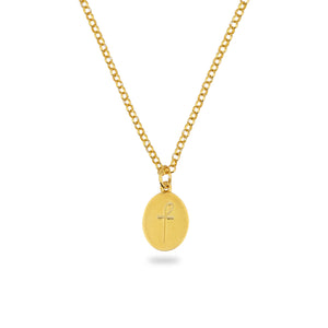 GOLD JAMESTOWN WHITE HOWLITE OVAL STONE NECKLACE & PENDANT