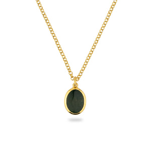 JAMESTOWN GREEN BLOODSTONE (oval)