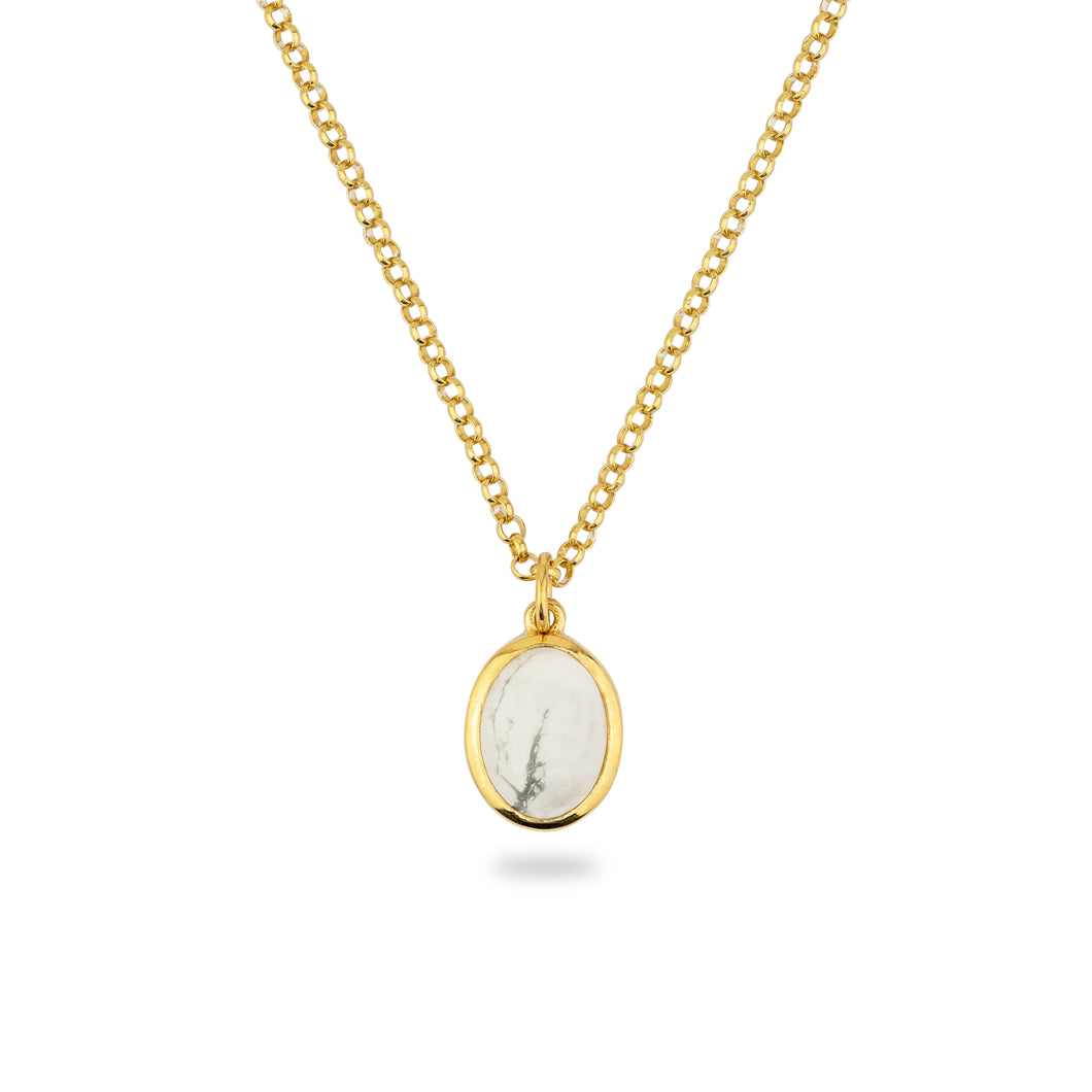 JAMESTOWN WHITE HOWLITE (oval)