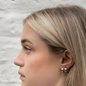 SILVER DOVER EARRINGS