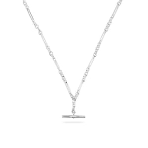 SILVER DE BEAUVOIR TWO NECKLACE CHAIN