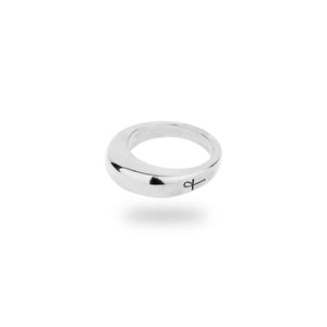 SILVER BARBICAN RING