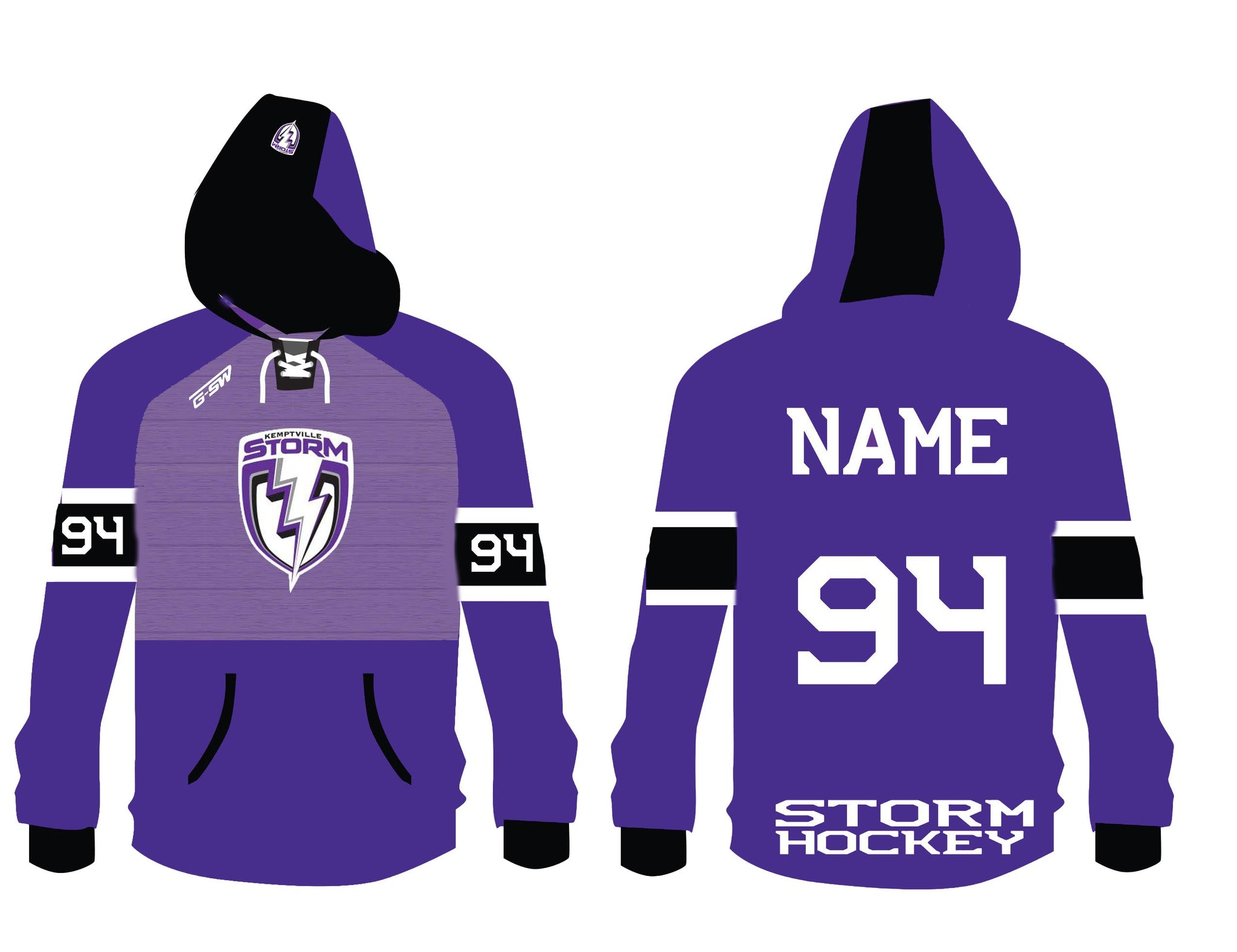 STORM - Custom Sublimated Hoodie - Inventory