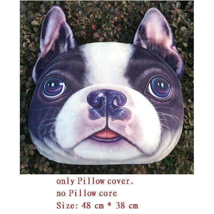 Realistic 3d Dog Pillow Cover Just Bulldogs