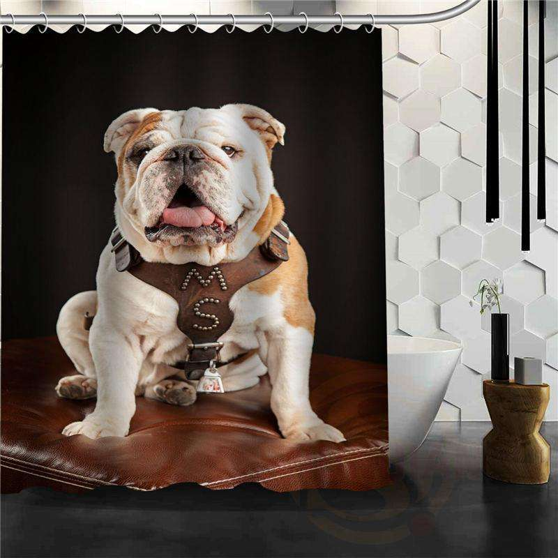 Bulldog Shower Curtain Just BulldogsToo Far