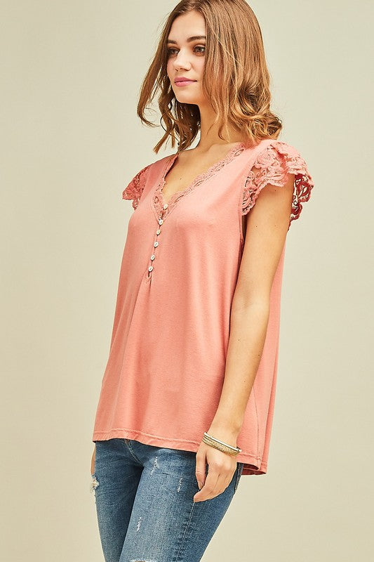 Entro Cuffed Sleeve With Lace