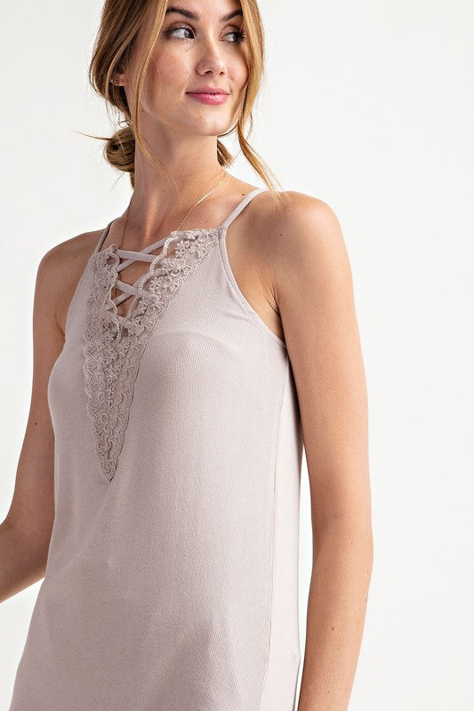 Easel Laced Up Cami