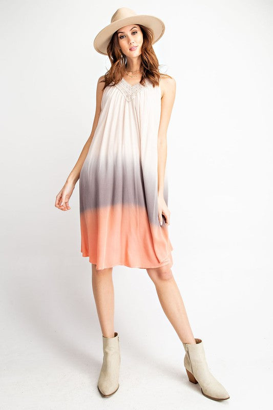 PACIFIC TIDE MIDI TIE DYE DRESS