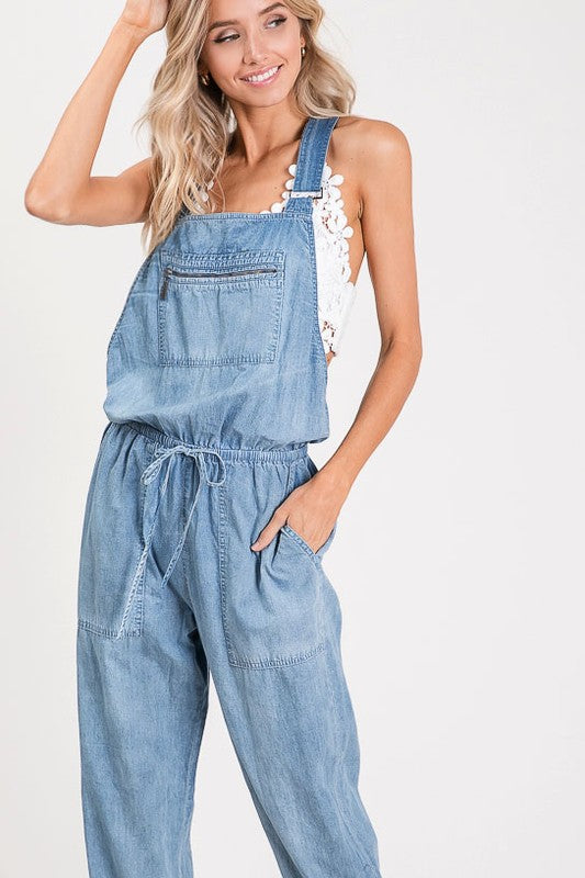 ZIPPERED POCKET OVERALLS