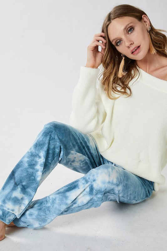 TIE DYE FRENCH TERRY CASUAL PANTS