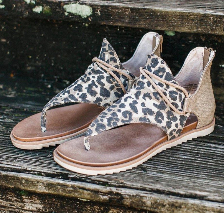 Very G Sparta Sandals- Tan Leopard