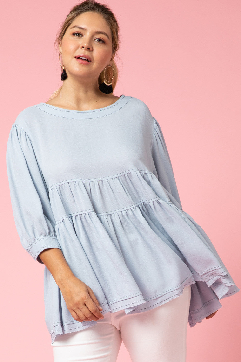 Tiered smock top