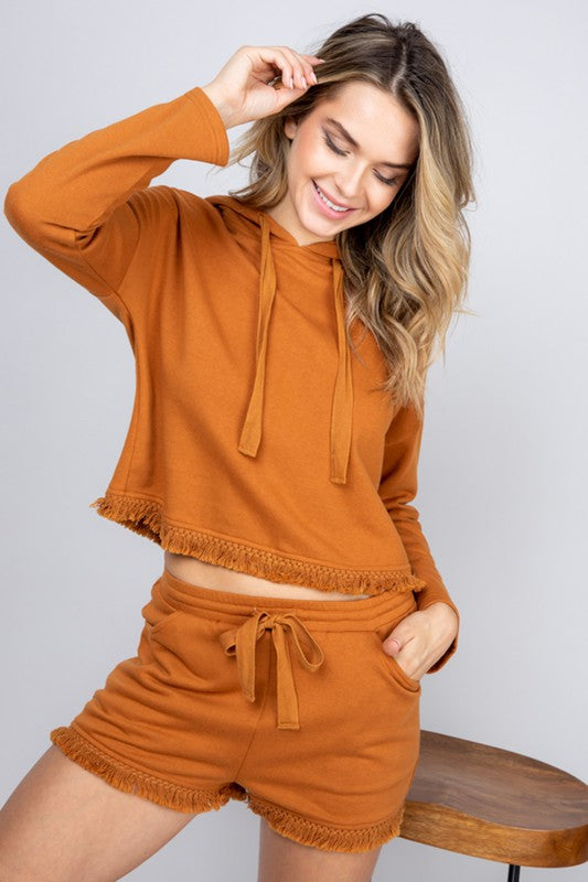 French Terry Hoodie and Shorts Set