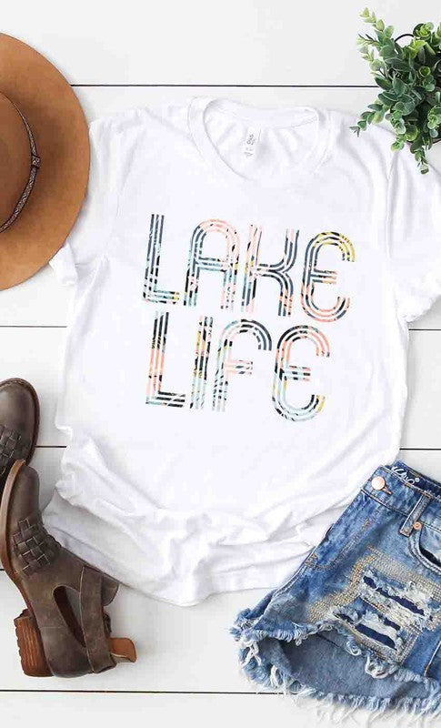 Floral Lake Life Graphic tee