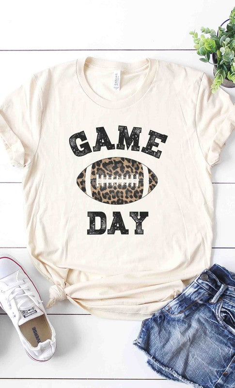 Leopard Game Day graphic tee PLUS