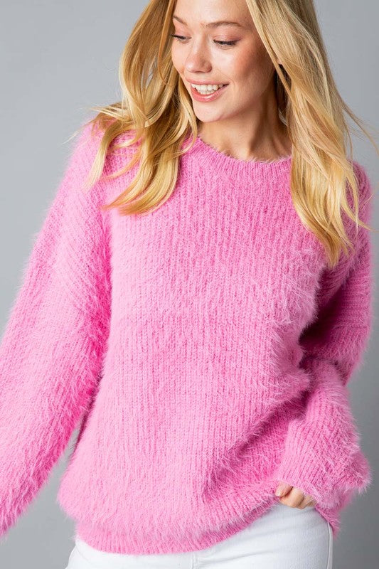 Solid mohair sweater