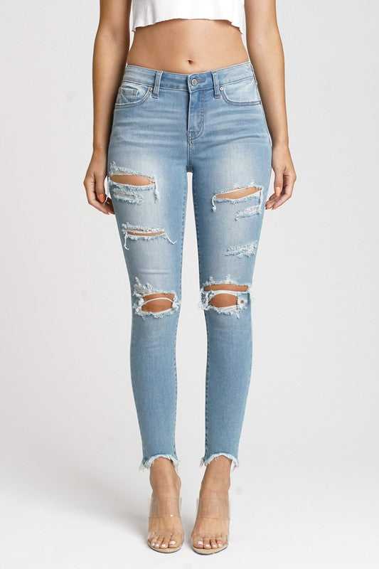 Jude mid rise skinny ankle in Wishful Thinking LT