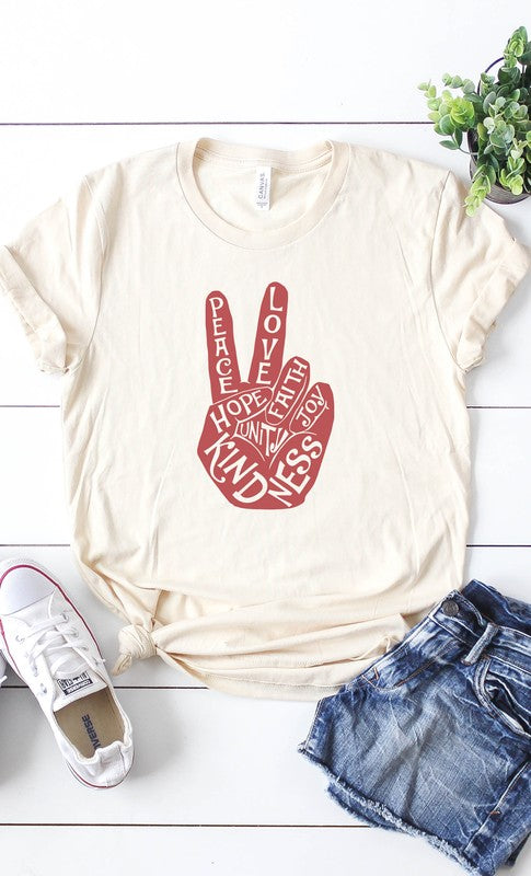 Peace Love and kindness Graphic tee