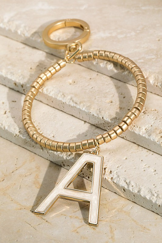 Letter Monogram Key Ring Bracelet