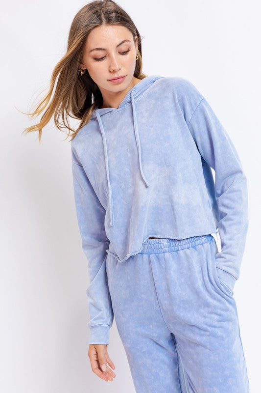 LONG SLEEVE WASHED HOODIE SET