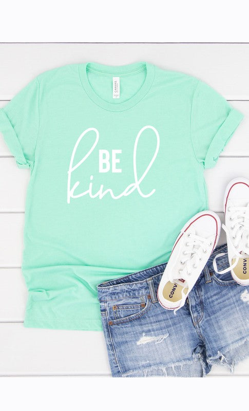 Be Kind Graphic Tee White Ink PLUS