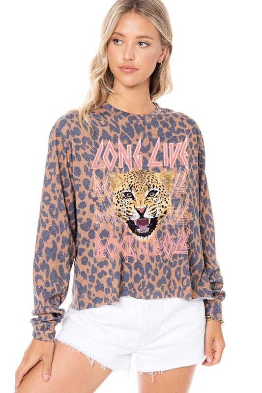 LONG LIVE ROCK N ROLL GRAPHIC TOP