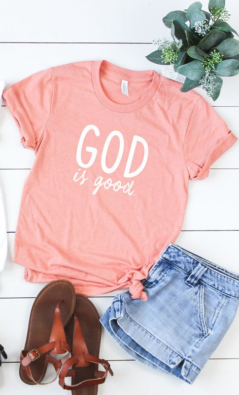 God is Good Graphic Tee Screen Print PLUS