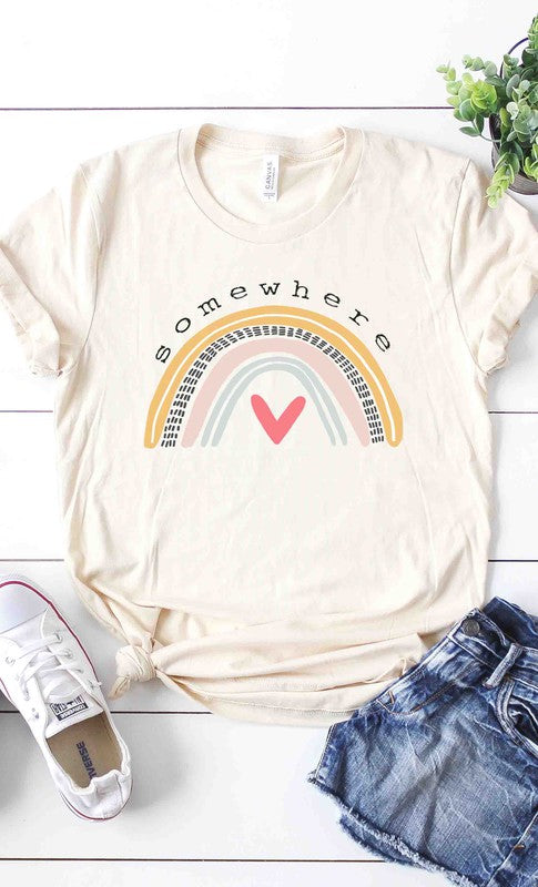 Somewhere over the rainbow graphic tee PLUS