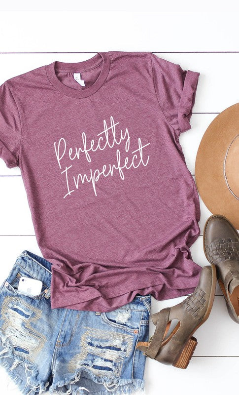 Perfectly Imperfect Graphic Tee, Plus Size