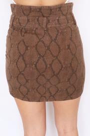 Brown Snake Skin Mini Skirt