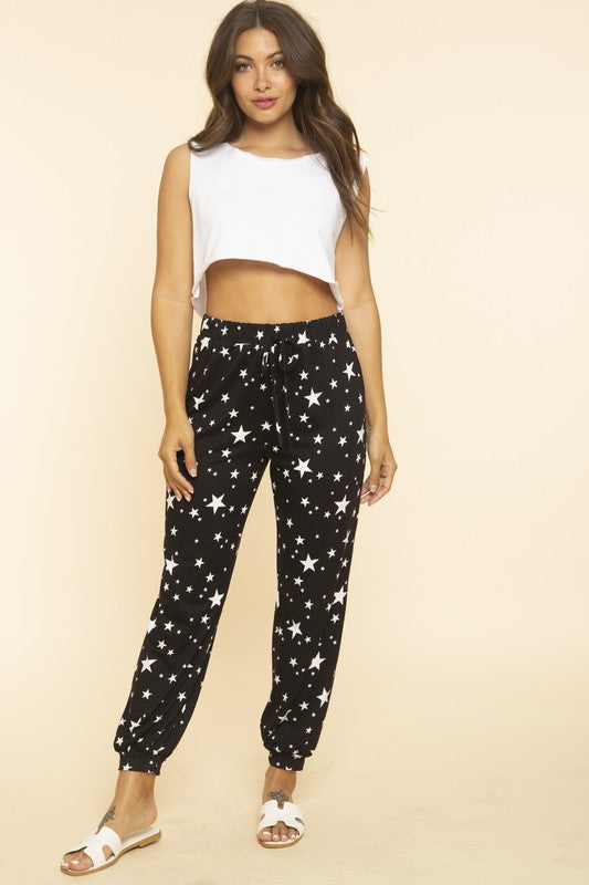 Star all over printed pants